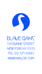 Blaue Gans Logo With Address