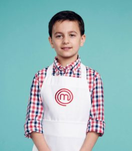 MASTERCHEF JUNIOR: Contestant: Donovan, Age 9 from Brooklyn, NY. Signature Dish: Vegetable Stir Fry with Squid. CR: Michael Becker / FOX. © 2017 FOX Broadcasting Co.