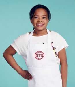 MASTERCHEF JUNIOR: Contestant: Peyton, Age 10 from Ringoes, NJ. Signature Dish: Red Pepper Pesto Pasta. CR: Michael Becker / FOX. © 2017 FOX Broadcasting Co.